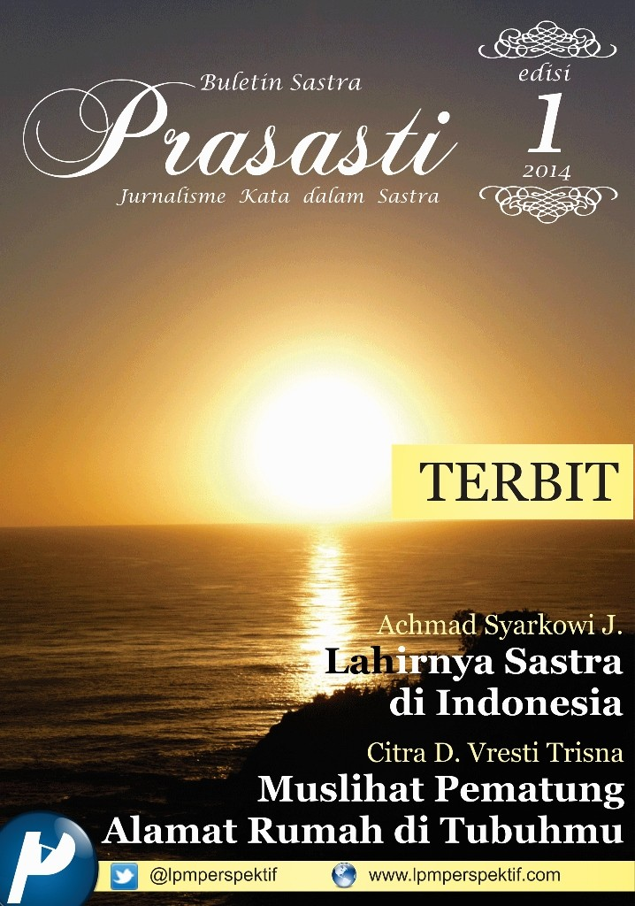 Book Cover: Buletin Prasasti Edisi 1: Terbit