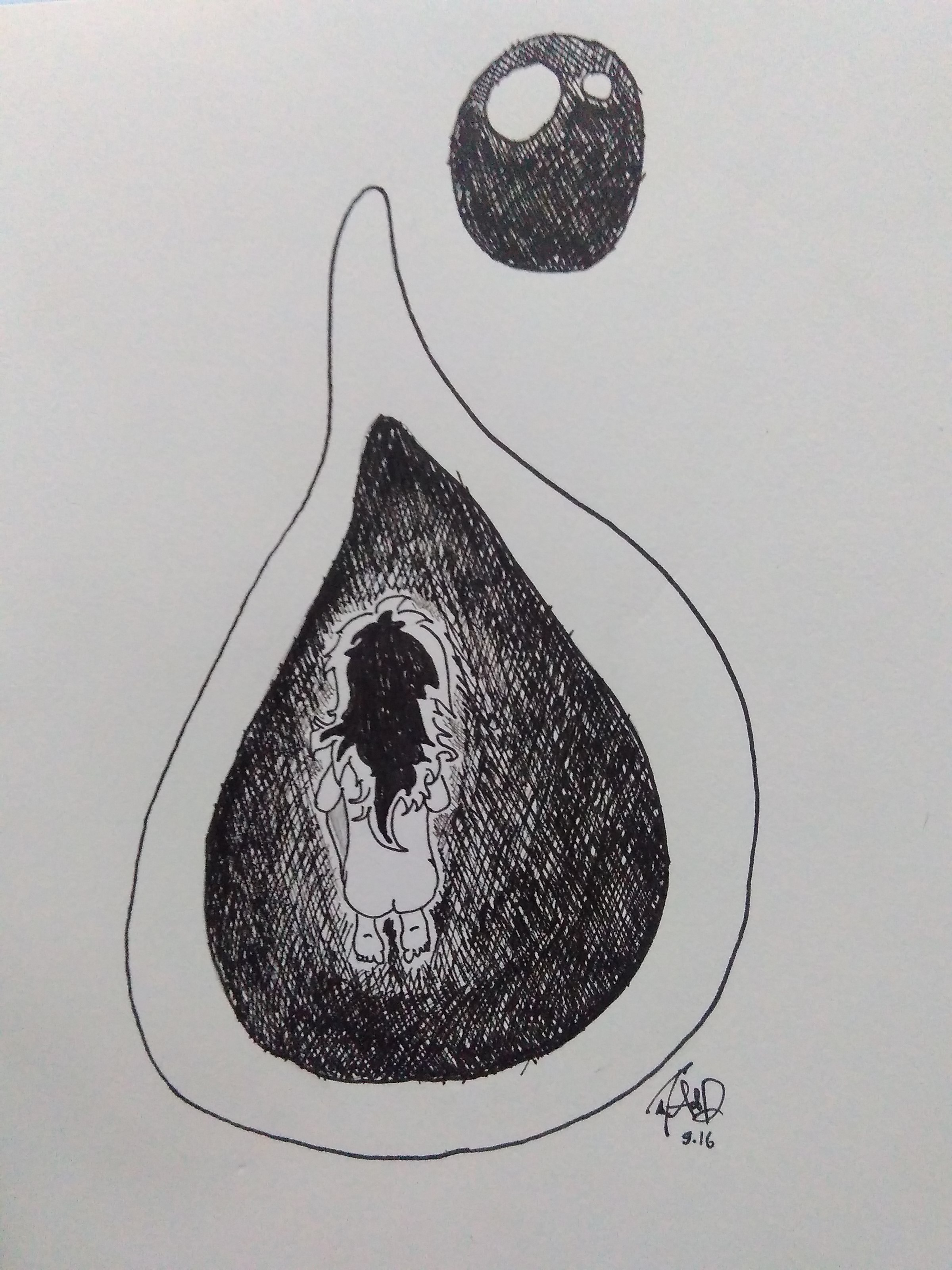 Ilustrasi Seseorang di Balik Dinding Berwarna Putih. (PERSPEKTIF/Ad)