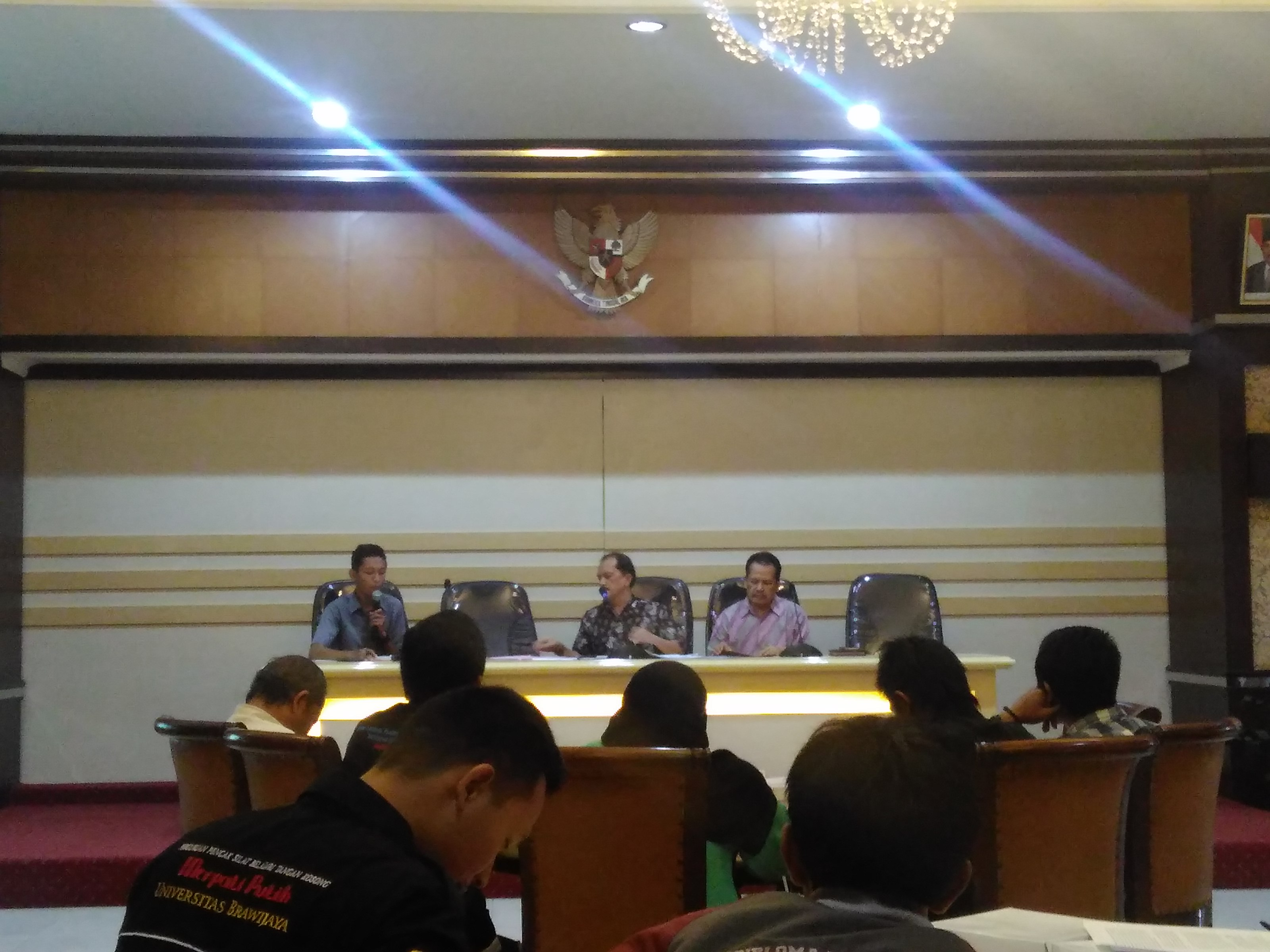 UKM se-UB mengadakan Audiensi di Lantai 5 Rektorat pada Jumat (7/10).