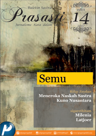 Book Cover: Buletin Prasasti Edisi 14: Semu