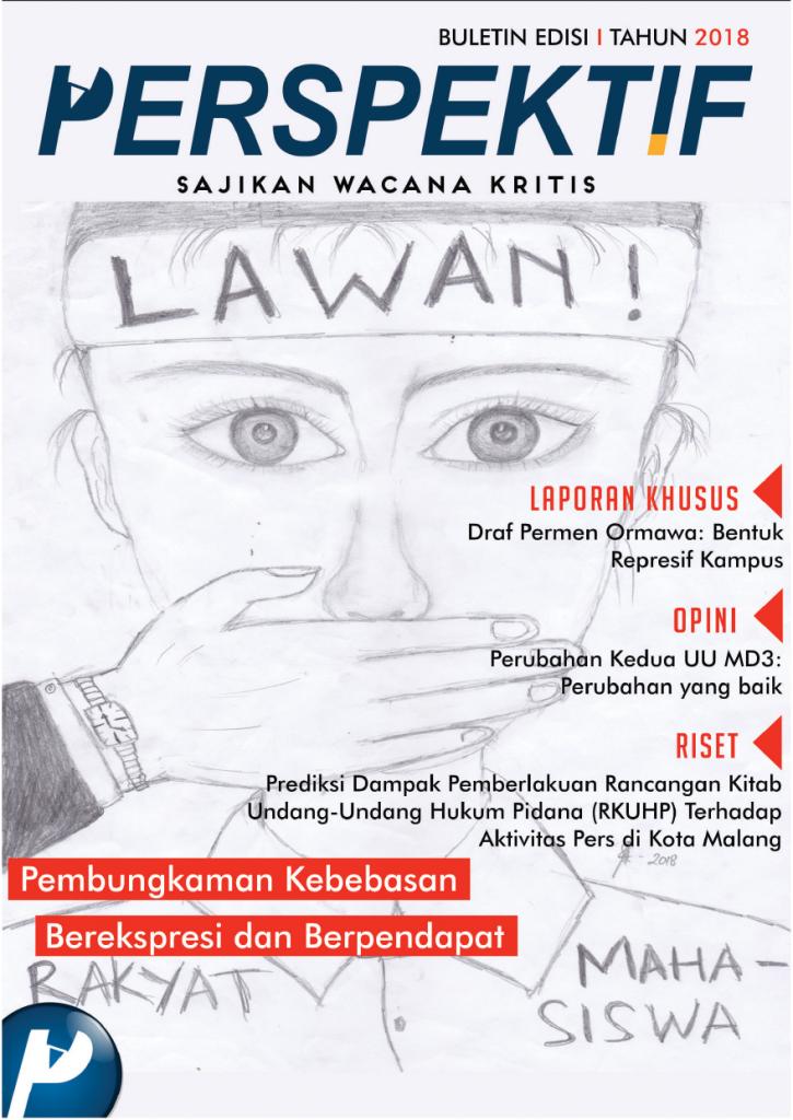 Book Cover: Buletin Bulanan 2018 Edisi 1: Pembungkaman Kebebasan Berekspresi dan Berpendapat
