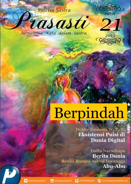 Book Cover: Buletin Prasasti Edisi 21 : Berpindah