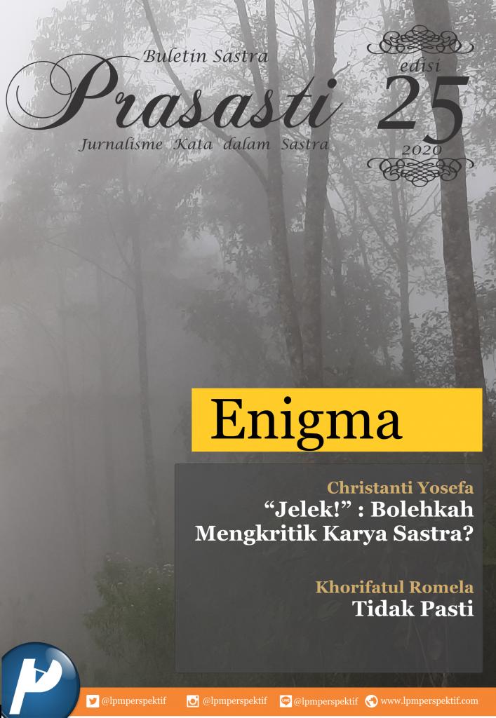 Book Cover: Buletin Prasasti Edisi 25: Enigma