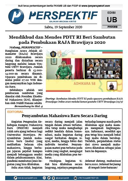 Book Cover: Buletin Maba Edisi PKKMB UB Tahun 2020